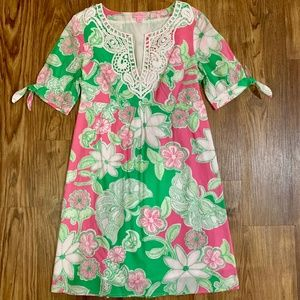 Lilly Pulitzer Pink and Green Dress